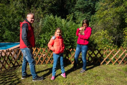 Hannes, Lena, Sabine und Speedy